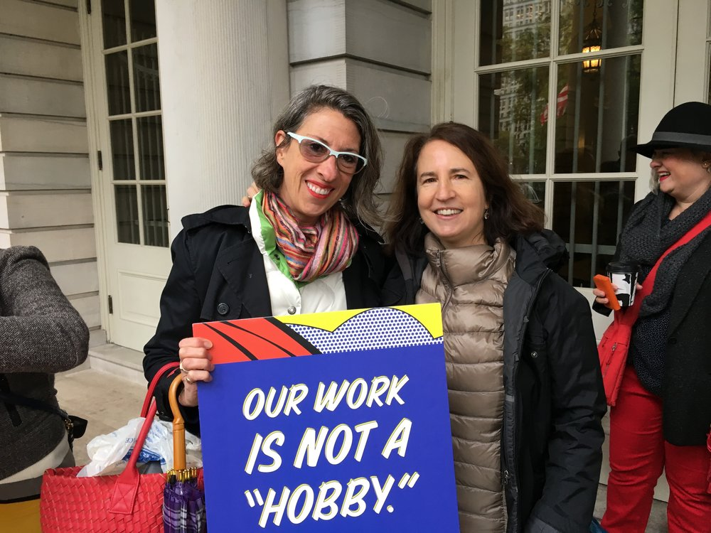 With Sara Horowitz, the Executive Director of the Freelancers Union