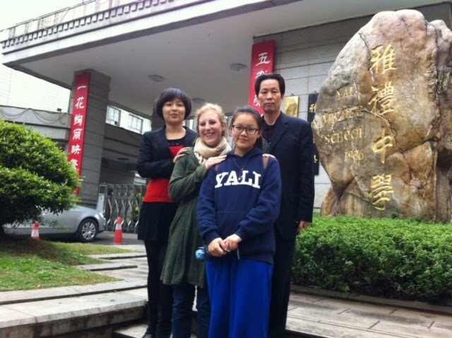 Sarah in China with  Yali Sue
