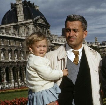 My dad and I (age 2) when we were in Paris.