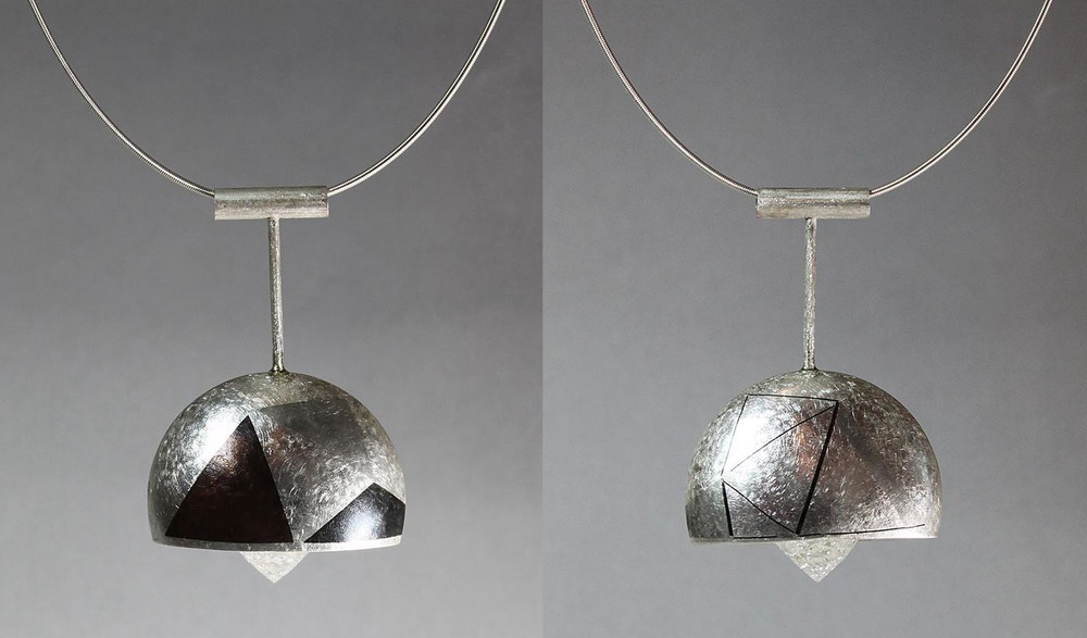 Fractal Pendant - front and back