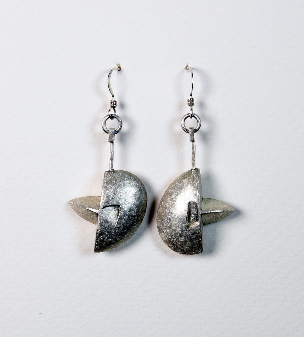 Silver Hollow Form Earrings