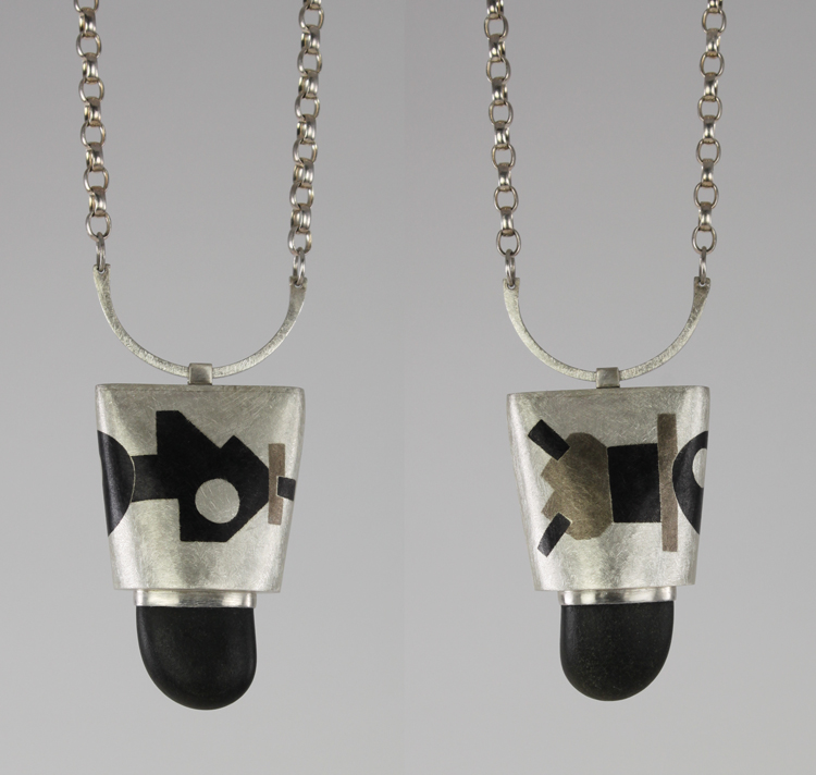 Inlay Hollow Form Pendant A