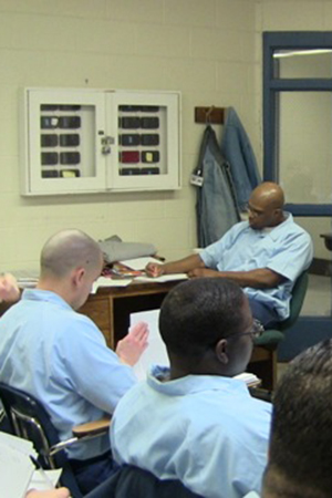 Teaching robotics at Danville Correctional Center.
