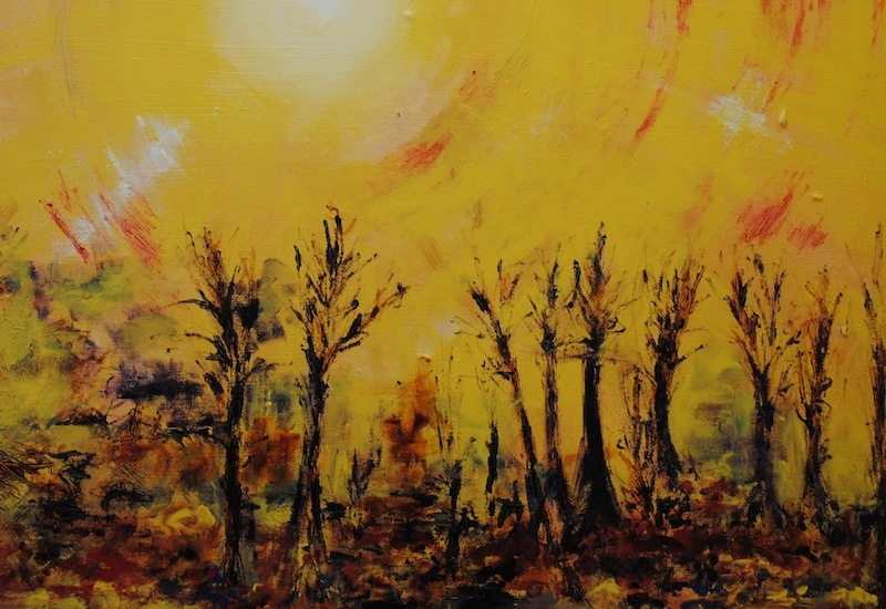 A Hazy Shade of Winter - A Hazy Shade of Winter was my first solo exhibition, and took place at the Rendezvous Cafe in Maidenhead Berkshire, December 2014 to January 2015
