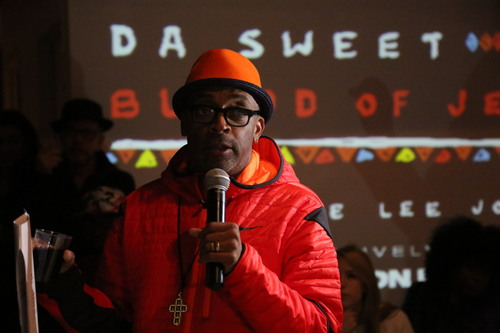 DA SWEET BLOOD OF JESUS SOUNDTRACK LISTENING Soundtrack listening party of Da Sweet Blood of Jesus was hosted by Vimeo at Lightbox, enjoying a night of Spike Lee encouraging guests to sing along to lyrics of every song.