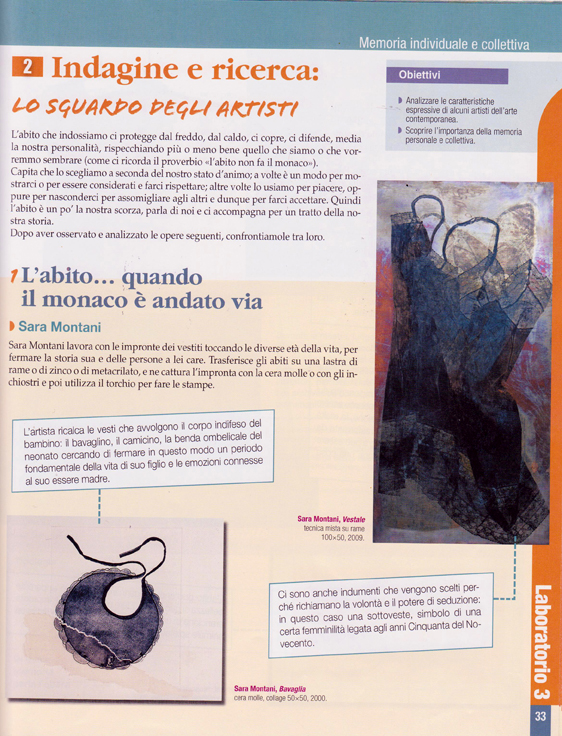 Sara Montani testo di ed.artistica De Agostini 2
