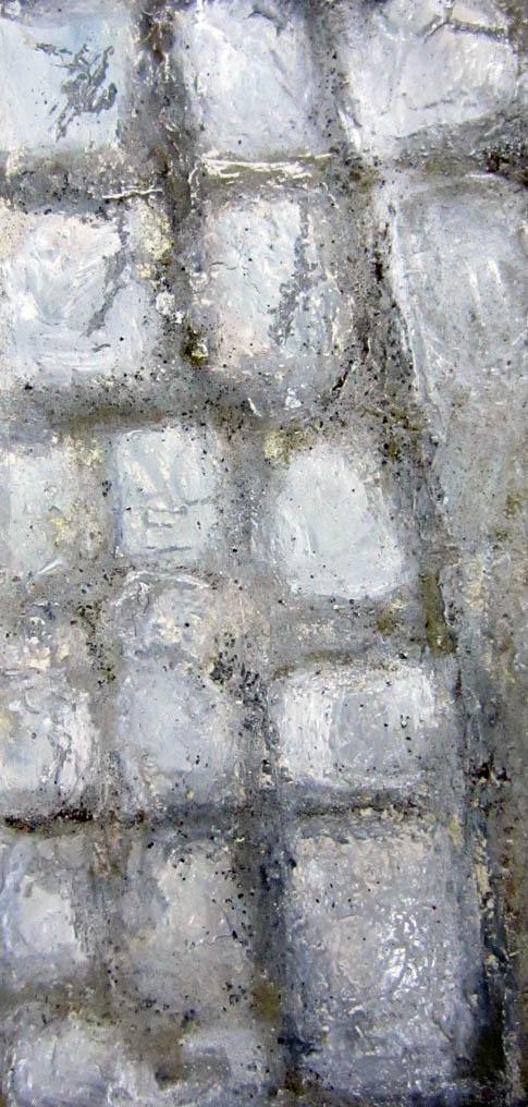 la via Emilia tecnica mista su tavola cm.90x45