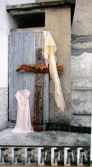 Cristo incontra la Madre, 2008. Tecnica giclée (o digital fine art) su tela Hahnemhule