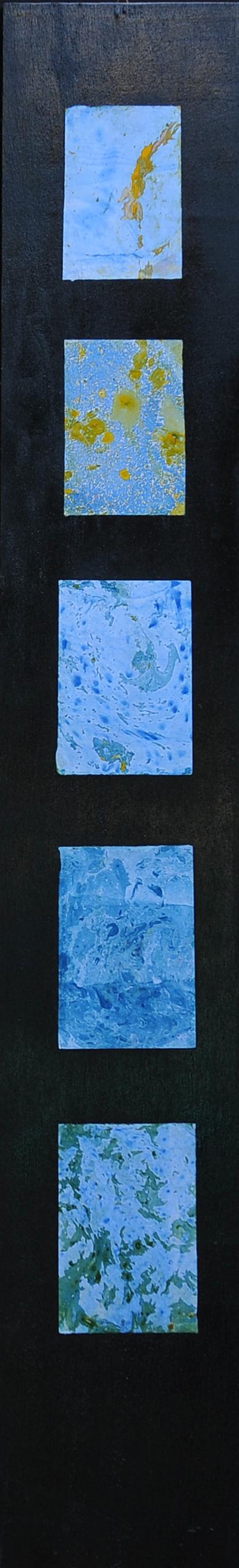 Un tuffo dove tutto è più blu. Tecnica: olio cm. 120x20