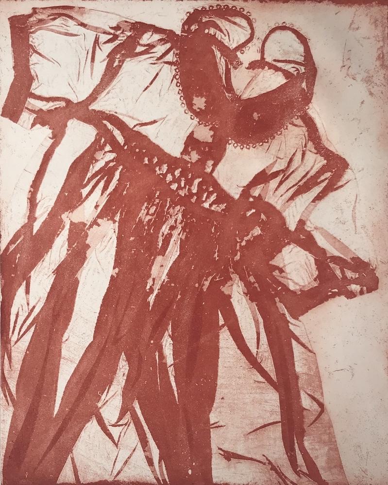 Arianna -  2012, ceramolle stampata a monoprint, 70 x 50 cm, ed. 9