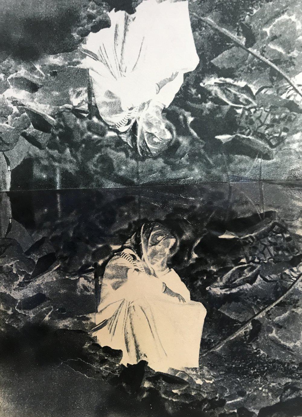 Mater Dolens   2019, tecnica Gum print su Hahnemühle , 41x29 cm