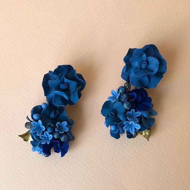 💕aretes en tonos azules para damas💕