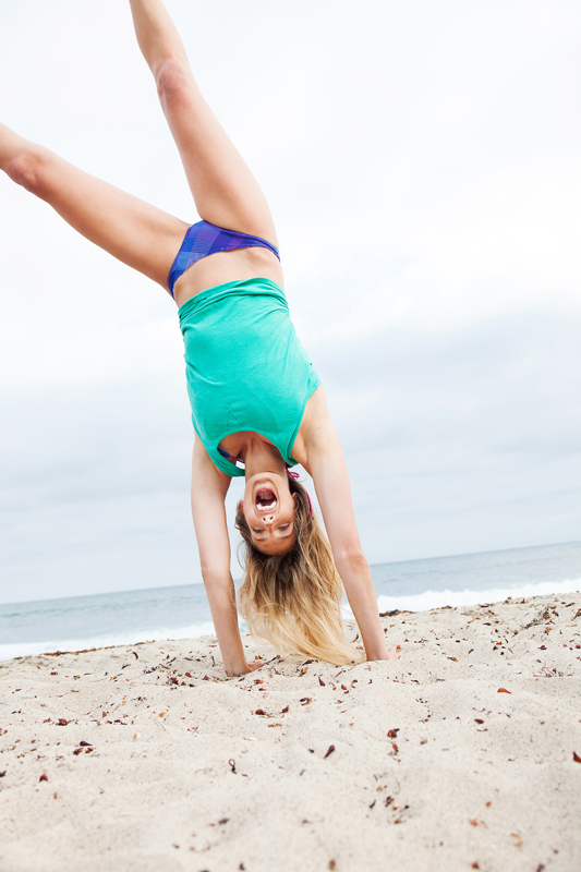 Reef girl doing a handstand. san diego lifestyle photographer, san diego lifestyle photography, southern California lifestyle photographer, California lifestyle photographer, lifestyle photographer