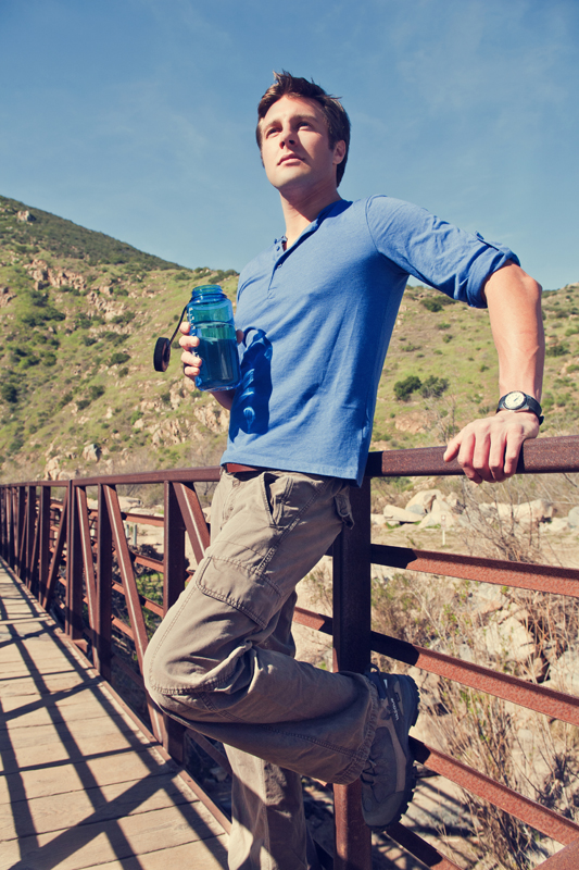 Taking a water break on a hike. san diego lifestyle photographer, san diego lifestyle photography, southern California lifestyle photographer, California lifestyle photographer, lifestyle photographer