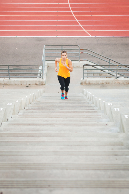 Girl running stairs like a crazy athlete. san diego commercial photographer, san diego fitness photographer, san diego fitness photography, southern sports photographer, California sports photographer