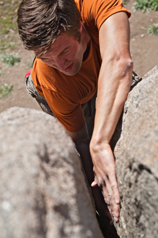 Rock climber with hands in a crack. san diego commercial photographer, san diego fitness photographer, san diego fitness photography, southern sports photographer, California sports photographer