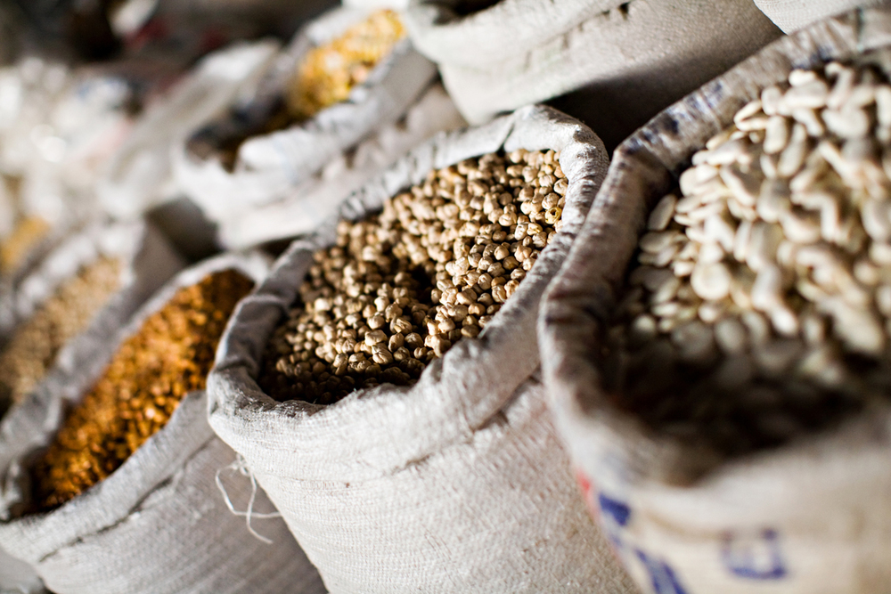 Cool photo of grains in a Peruvian market. san diego travel photography, san diego travel photographer, southern California travel photographer, California travel photographer, ca travel photographer