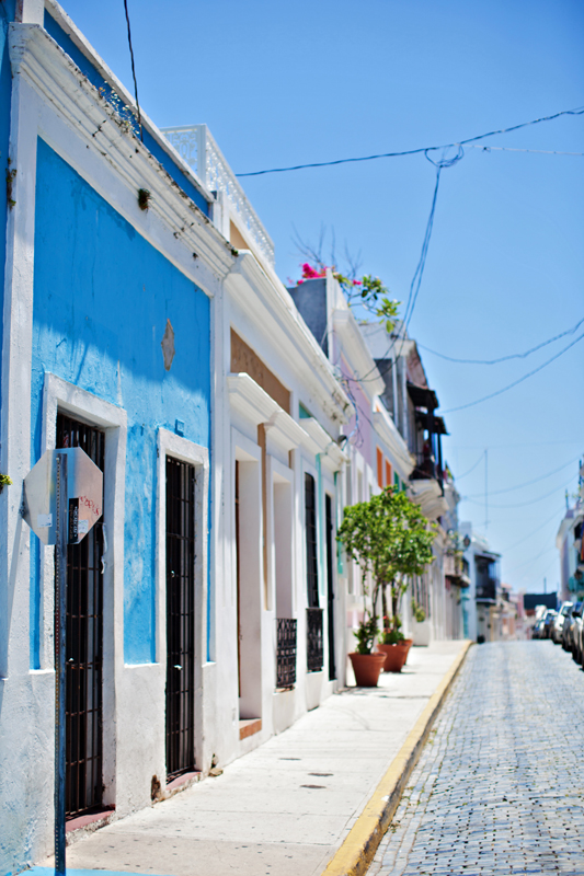 A colorful street in Puerto Rico.