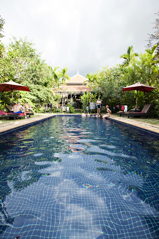 hotel pool in siem reap, cambodia. san diego commercial photography, san diego commercial photographer, southern California commercial photographer, California commercial photographer