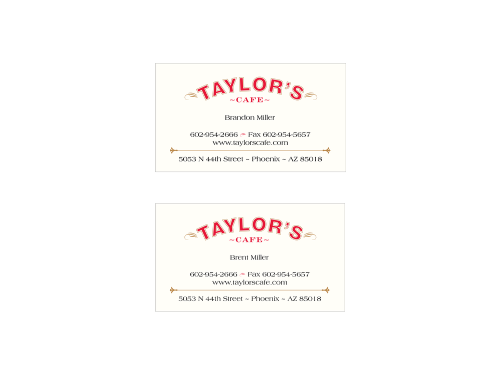business cards — terry tirres studios