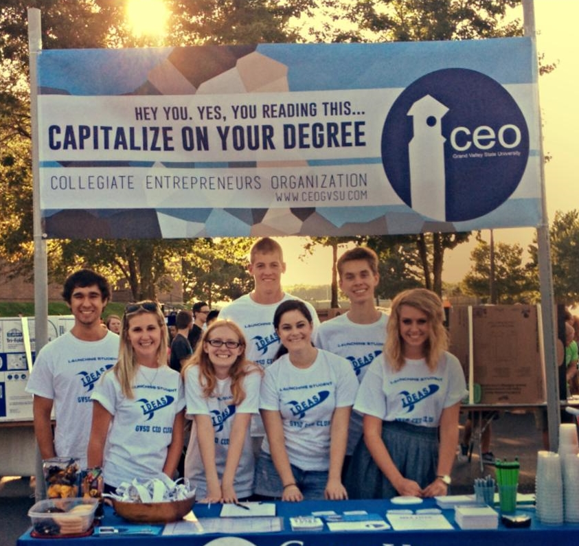 Members of CEO Club Leadership Board at Campus Night Life in Allendale, 2014