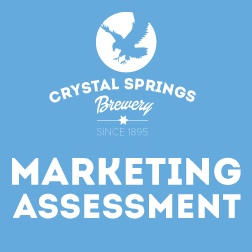 Crystal Springs Brewery written marketing and branding assessment.