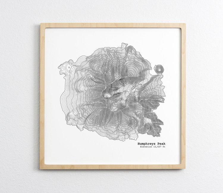Humphreys Peak Map