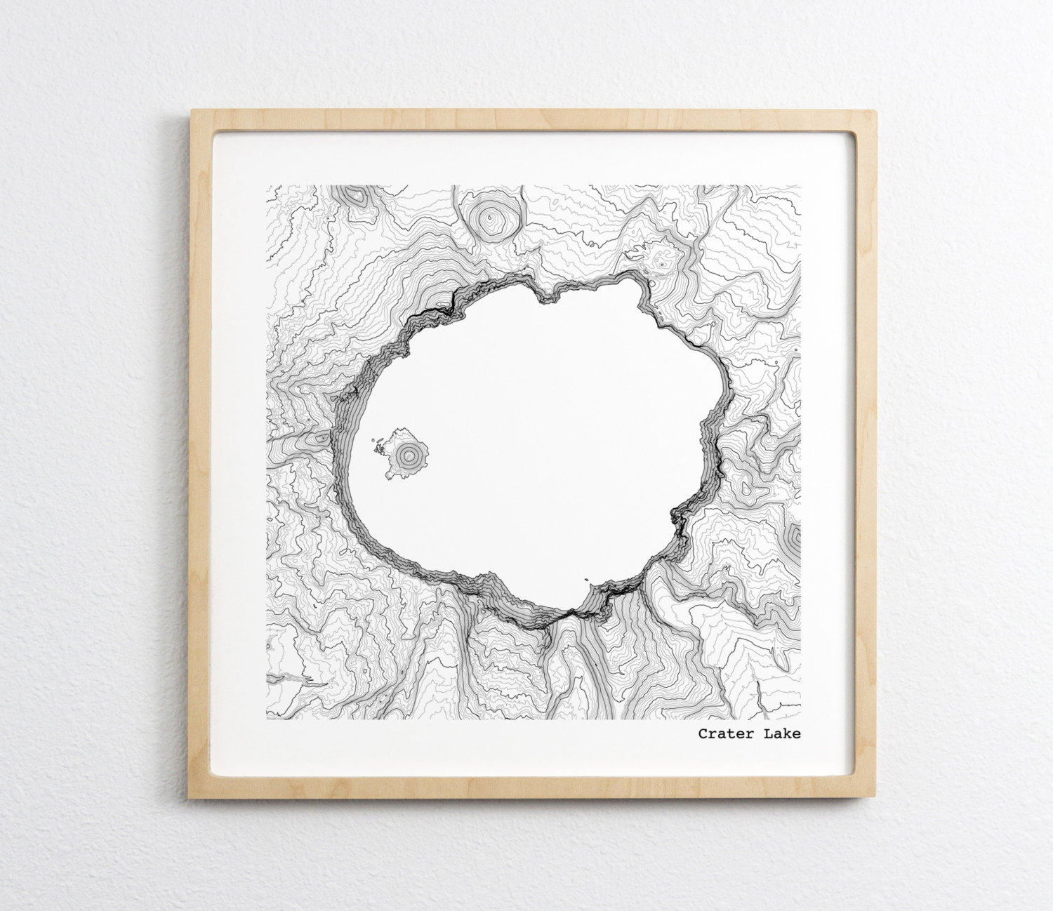 Crater Lake National Park Oregon Topographic Map Art Print Tim