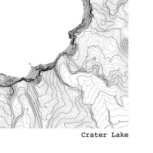 Crater Lake Topographic Map.Crater Lake National Park Oregon Topographic Map Art Print Tim