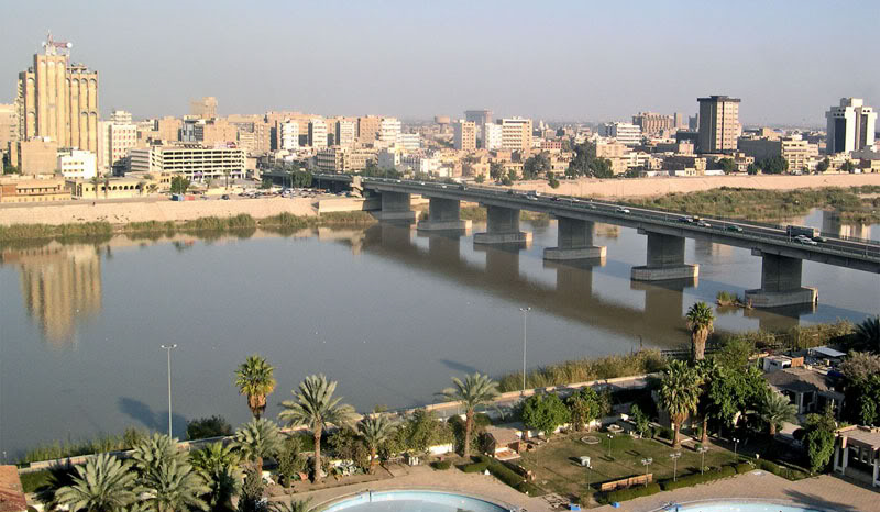 A view over the river Tigris in Baghdad