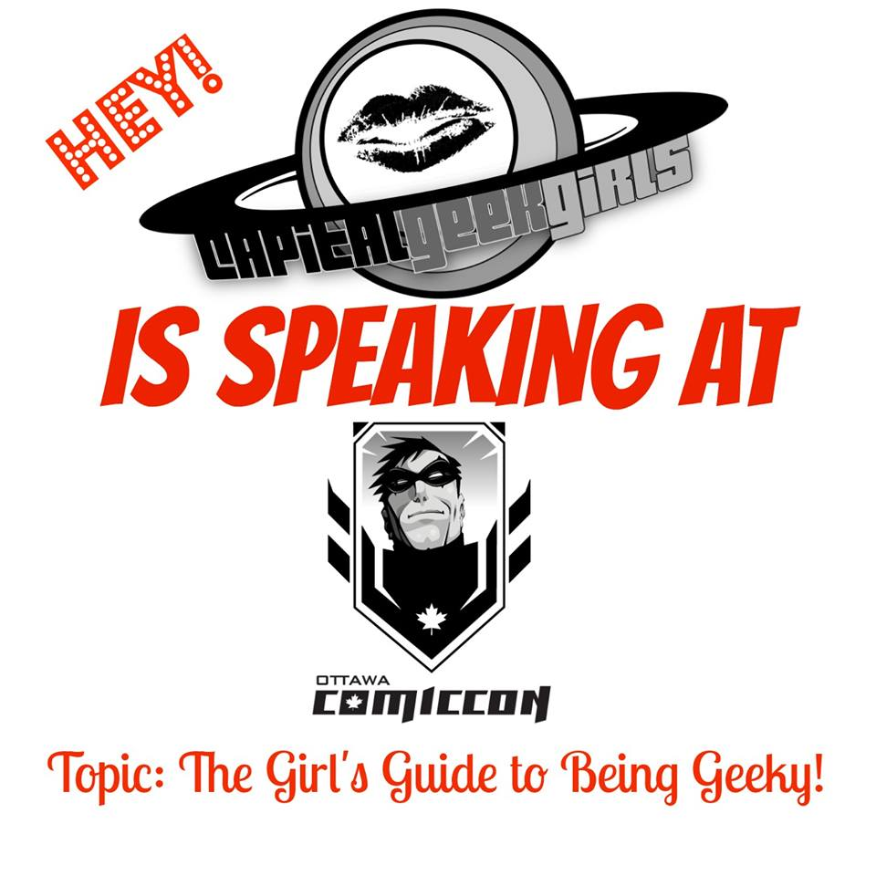 Capital Geek Girls spoke as a panel at the 2014 Ottawa Comiccon, to a full-capacity room.