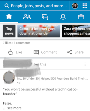 Prime example of a clickbait-y post. You're better than this, LinkedIn community!