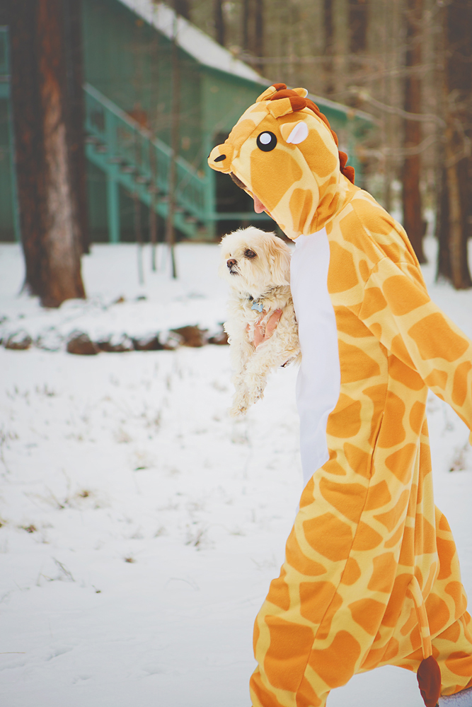 When the pup runs away, the giraffe saves the day.  AKA - Tyler.