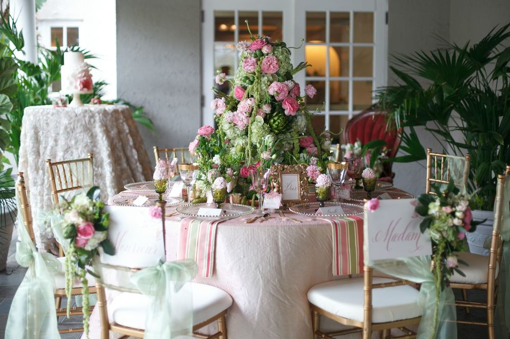 Pink and Green garden wedding