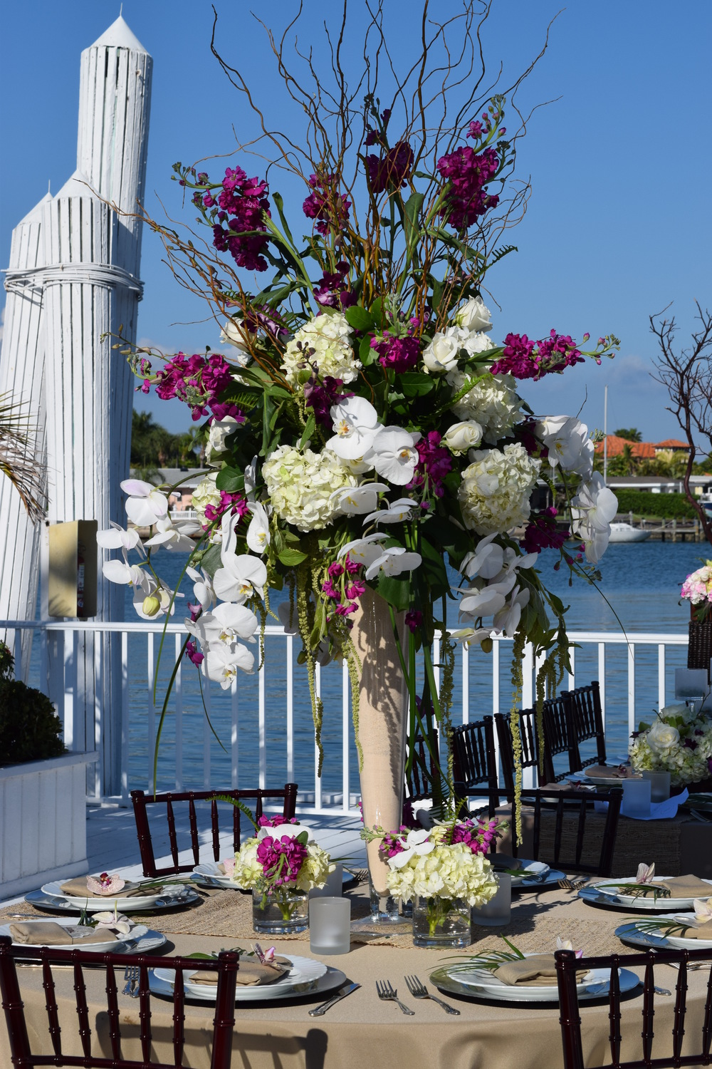 Tall Centerpieces purple
