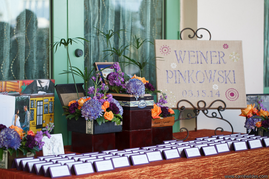 The Renaissance Vinoy wedding purple and green