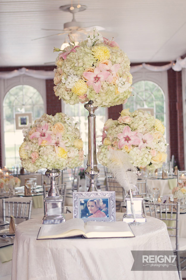 Tall Centerpieces pink and cream
