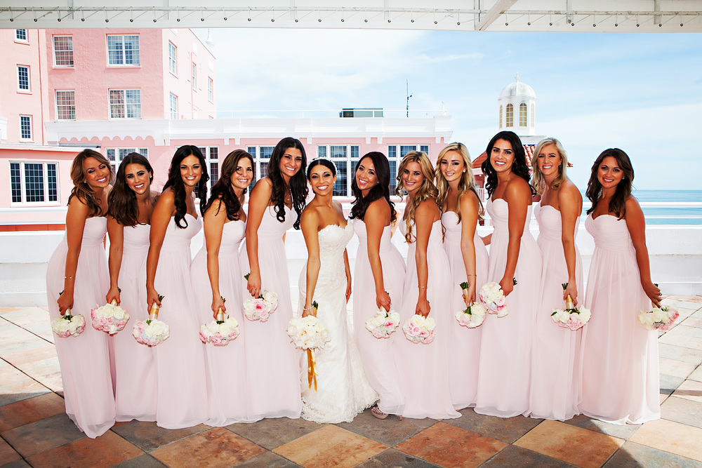 Pink Don Cesar wedding flowers