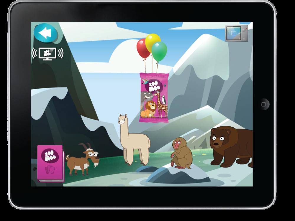 """Un icono """"ZooSync"""" aparecerá cuando el dispositivo se sincroniza con el canal ZooMoo."""