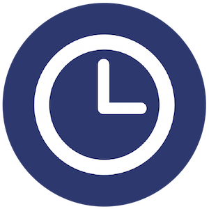 Number of Hours Clock Icon
