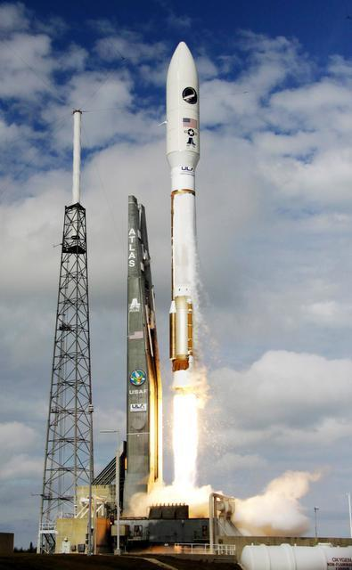 John Raoux/Associated Press file  A United Launch Alliance Atlas V rocket, carrying an X-37B experimental robotic space plane, lifts off in December 2012. If the Russians make good on their threat to withhold the RD-180 engine used in the rockets, it could have up to a $5 billion impact on the U.S. space program.