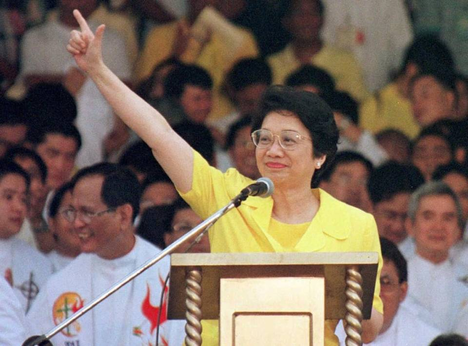 Corazon Aquino served as president of the Philippines from 1986-1992. BULLIT MARQUEZ Associated Press