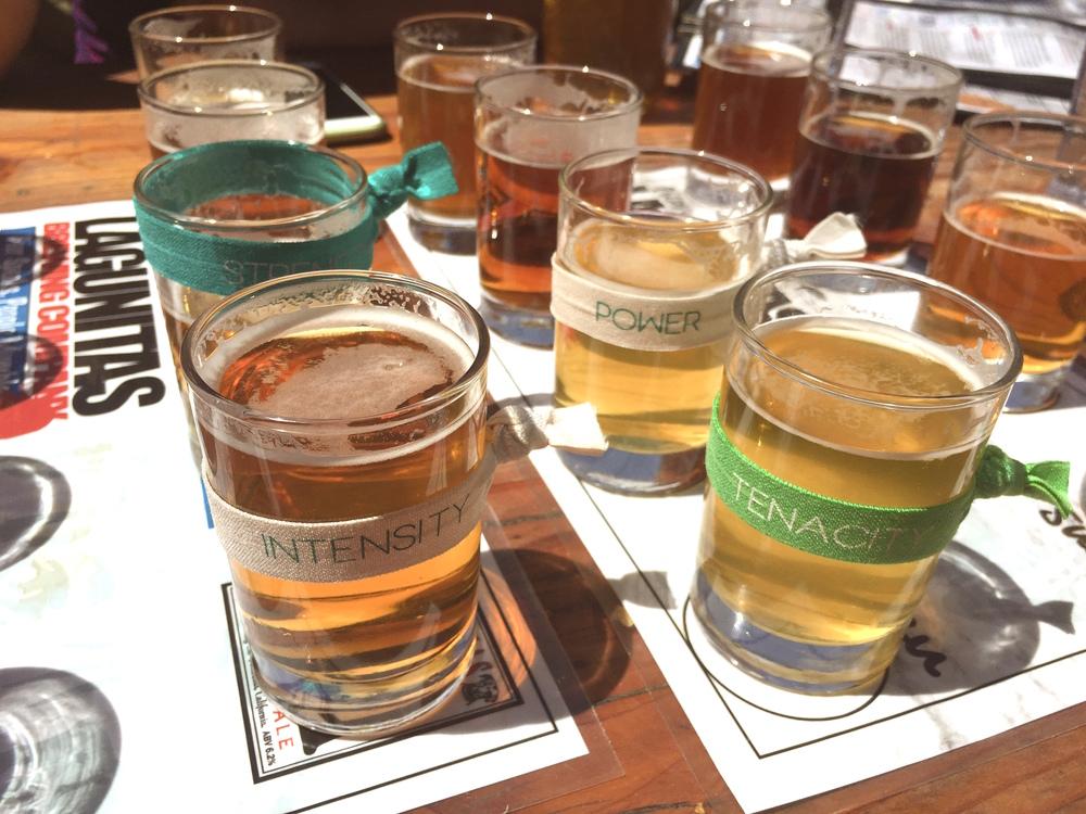 The taste of 16 shots in total of Lagunitas craft beer was bittersweet in many ways