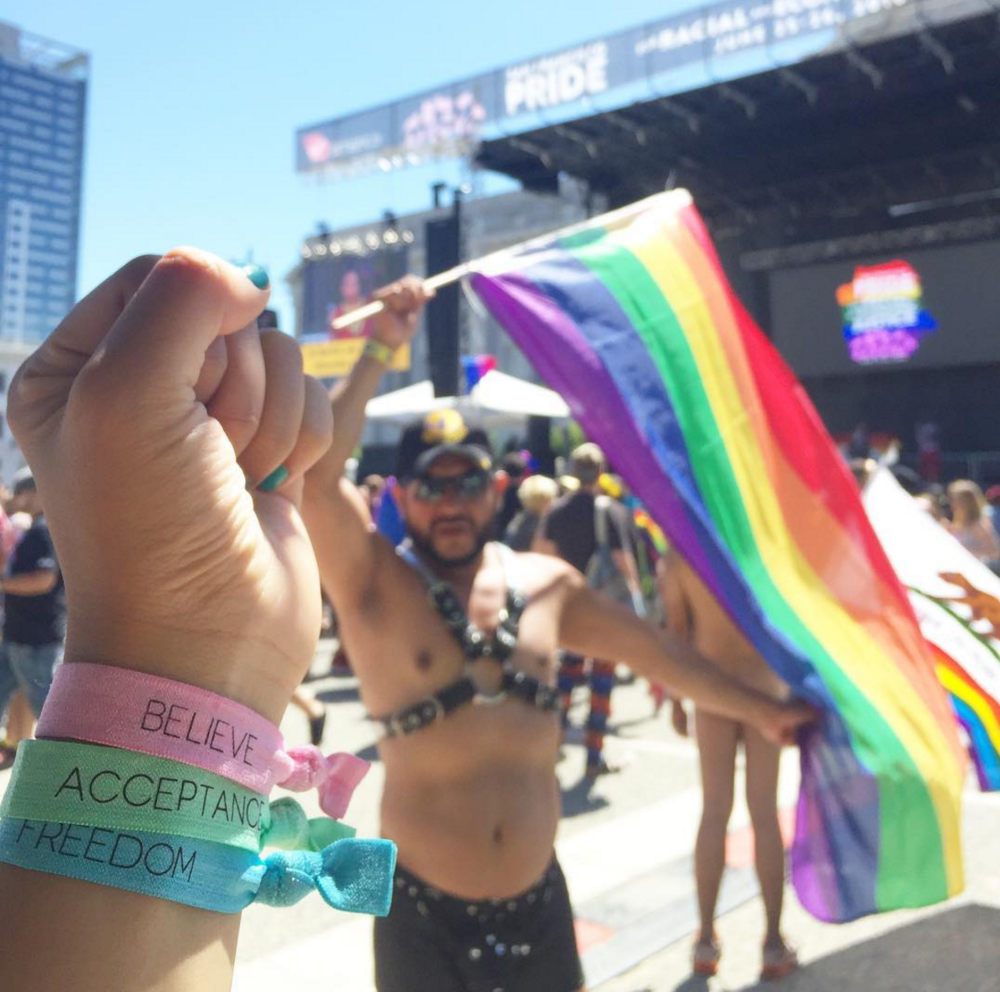 PRIDE is BELIEVING that we are all beautiful and ACCEPTING each other and ourselves for who we are. And that is FREEDOM at its finest.