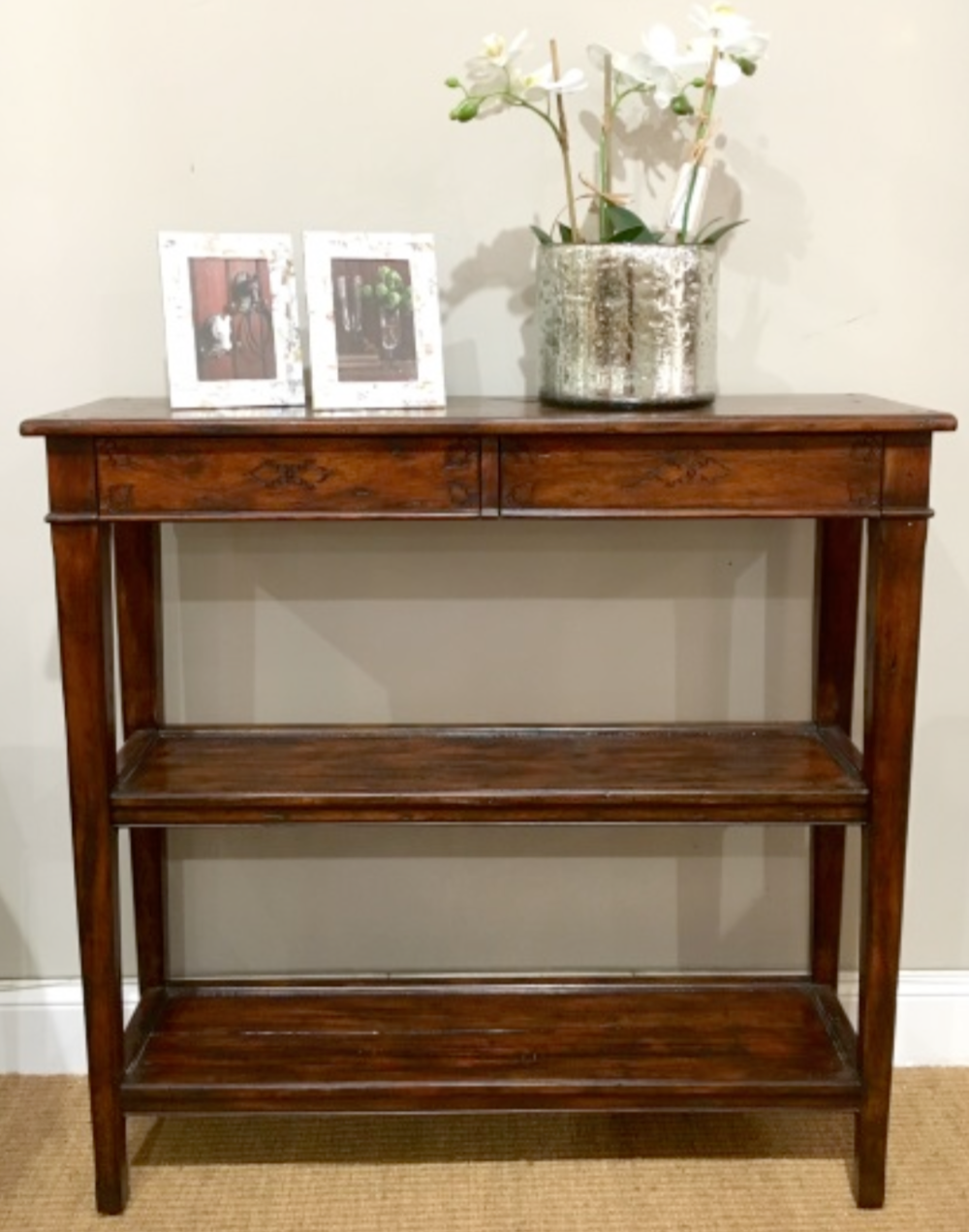 Antique Wood Console $795