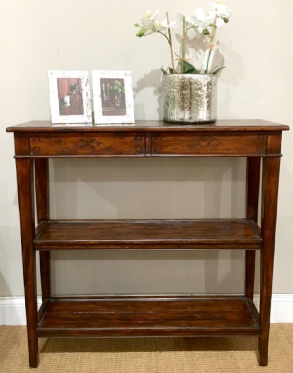 Antique Wood Console $795
