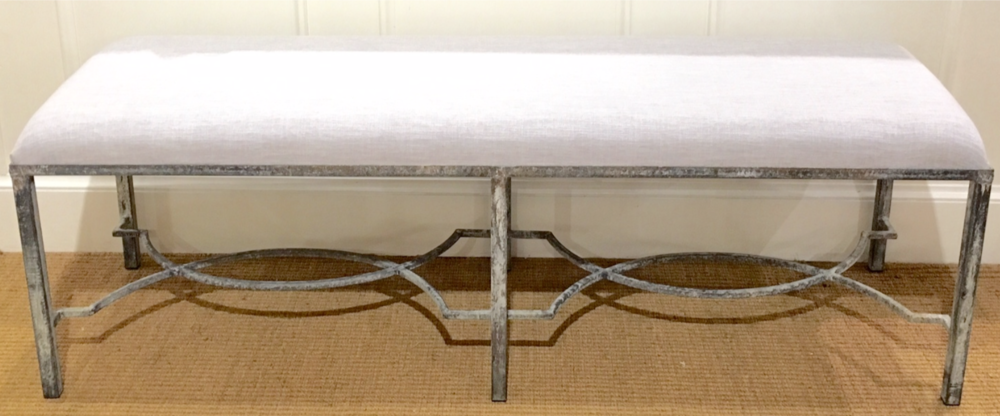 Eve Iron Bench in Ocean $795