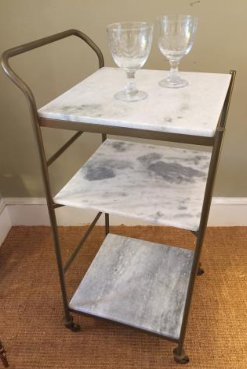 Brass Bar Cart $550