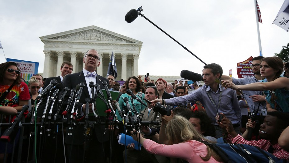 I (bottom right corner) contributed to AP's coverage of the Obergefell v. Hodges SCOTUS gay marriage decision.