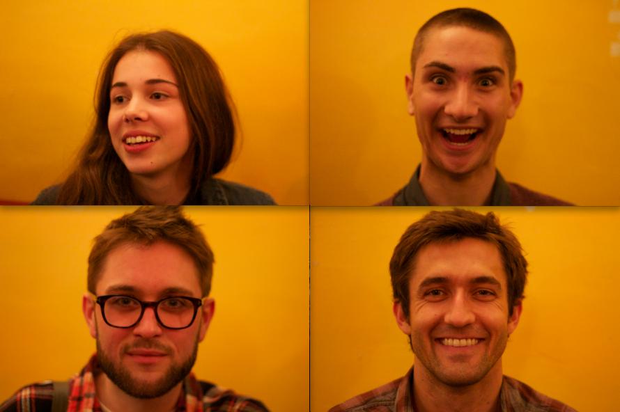 Nina, Remi, Alex and Evan.